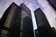 Vista della via, giù città, Toronto, Ontario, Canada Fotografia Stock Libera da Diritti