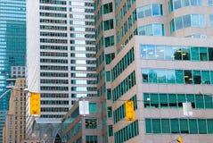 Vista della via, giù città, Toronto, Ontario, Canada Fotografie Stock Libere da Diritti