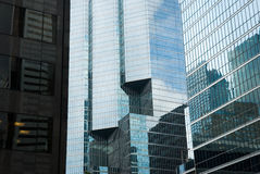 Vista della via, giù città, Toronto, Ontario, Canada Fotografia Stock