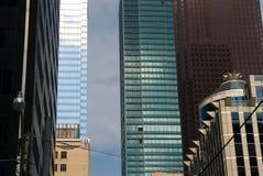 Vista della via, giù città, Toronto, Ontario, Canada Fotografie Stock