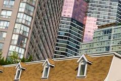 Vista della via, giù città, Toronto, Ontario, Canada Immagini Stock Libere da Diritti