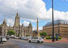 Vista della via a Glasgow City Chambers Fotografia Stock