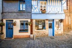 Vista della via in Honfleur, Francia fotografia stock libera da diritti