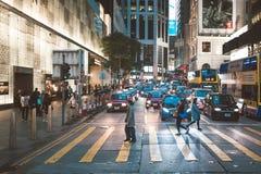 Vista della via in Hong Kong Fotografia Stock Libera da Diritti