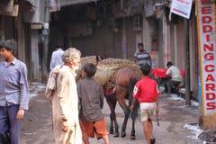 Vista della via in India Fotografia Stock Libera da Diritti