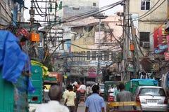 Vista della via in India Fotografie Stock