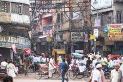 Vista della via in India Immagine Stock