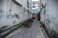 Vista della via in Kuala Lumpur fotografia stock libera da diritti