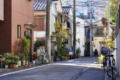 Vista della via a Kyoto Immagini Stock Libere da Diritti