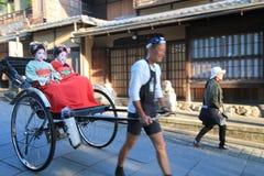 Vista della via a Kyoto Fotografia Stock Libera da Diritti
