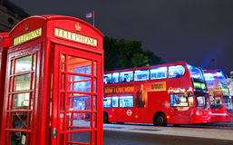 Vista della via a Londra Immagini Stock