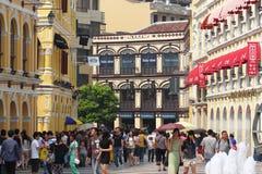 Vista della via a Macao Immagine Stock Libera da Diritti
