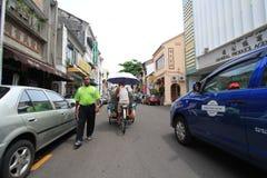 Vista della via in Malesia Penang Fotografia Stock