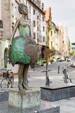 Vista della via nel centro dell'orientale - città europea Immagine Stock Libera da Diritti