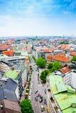 Vista della via nel centro urbano di Monaco di Baviera, Germania Fotografia Stock Libera da Diritti