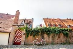 Vista della via in Nurnberg, Germania immagine stock