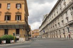 Vista della via a Roma, Italia Fotografie Stock Libere da Diritti