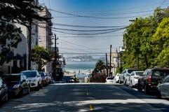 Vista della via in San Francisco California United States dell'America Fotografia Stock