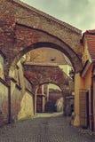 Vista della via, Sibiu, Romania Immagini Stock