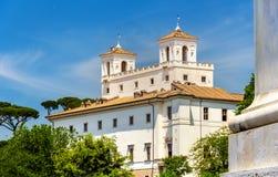 Vista della villa Medici a Roma Fotografia Stock
