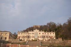 Vista della villa Pasini Scotti immagine stock
