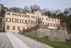 Vista della villa Pasini Scotti fotografie stock libere da diritti
