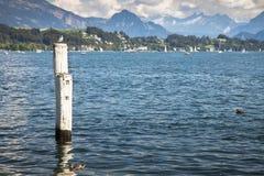 Vista della vista di Lucerna del lago lucerne Immagine Stock