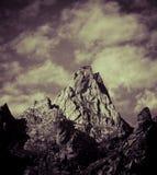 Vista delle alpi Immagine Stock
