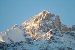 Vista delle alpi Fotografie Stock