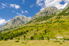 Vista delle alpi albanesi Fotografie Stock Libere da Diritti