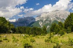 Vista delle alpi albanesi Fotografia Stock