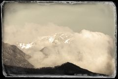 Vista delle alpi apuan Immagine Stock