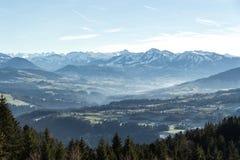 Vista delle alpi austriache Fotografia Stock