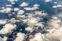 Vista delle alpi dall'aereo Fotografie Stock Libere da Diritti