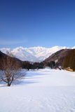Villaggio di Hakuba nell'inverno Immagini Stock