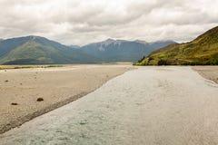 Vista delle alpi del sud Nuova Zelanda Immagini Stock Libere da Diritti