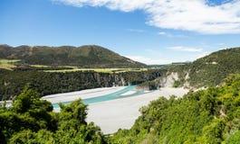 Vista delle alpi del sud Nuova Zelanda Fotografia Stock Libera da Diritti