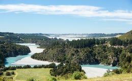Vista delle alpi del sud Nuova Zelanda Fotografia Stock