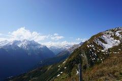 Vista delle alpi dell'Austria sui rauris Fotografia Stock Libera da Diritti