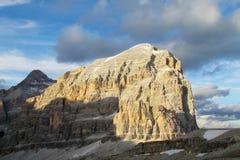 Vista delle alpi della dolomia bella Fotografie Stock
