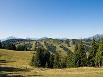 Vista delle alpi di autunno Immagini Stock Libere da Diritti