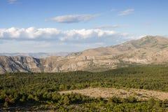 Vista delle alpi di Dinaric in Ragusa Fotografia Stock Libera da Diritti