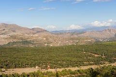 Vista delle alpi di Dinaric in Ragusa Fotografie Stock Libere da Diritti