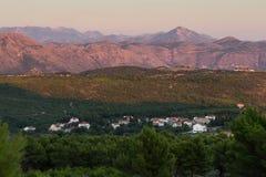 Vista delle alpi di Dinaric in Ragusa Fotografia Stock
