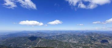 Vista delle alpi di Mt Ventoux Immagini Stock