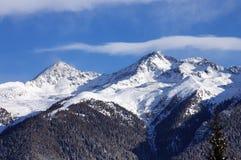 Vista delle alpi (Dolomiti) Fotografie Stock