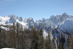 Vista delle alpi europee Fotografie Stock