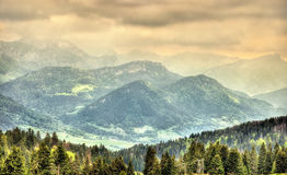 Vista delle alpi francesi Fotografia Stock