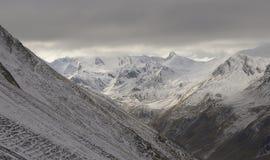 Vista delle alpi francesi nevose Fotografie Stock Libere da Diritti