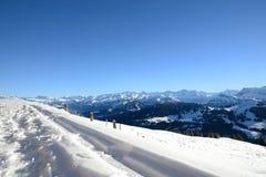 Vista delle alpi svizzere dal Rigi Kulm nell'inverno, Lucerna Fotografia Stock